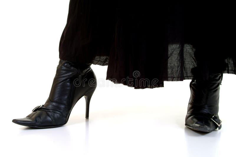 Zwarte Laarzen & Rok stock afbeeldingen
