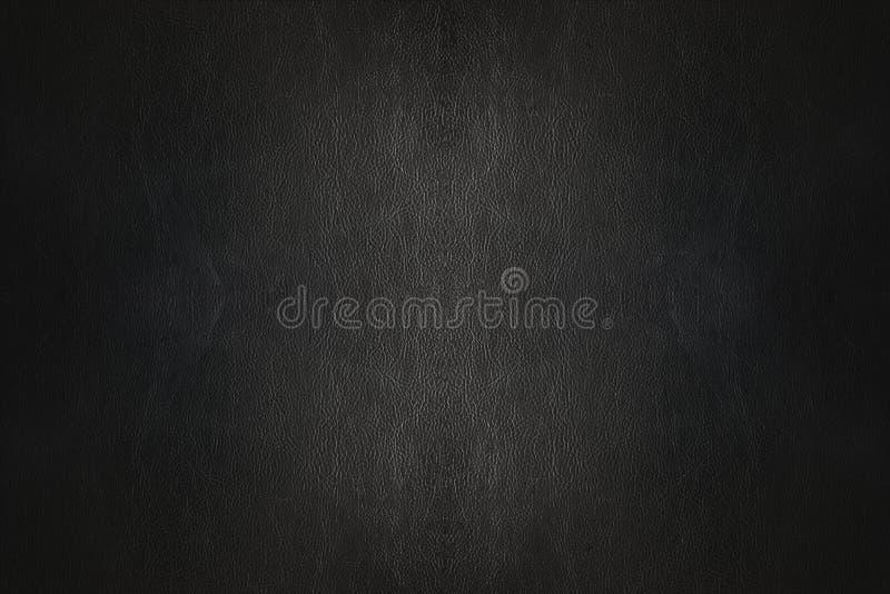 Zwarte leer luxueuze textuur als achtergrond stock afbeeldingen