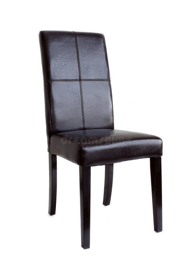 Zwarte leerstoel stock afbeeldingen