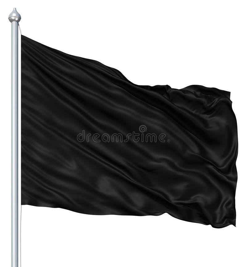 Zwarte lege vlag royalty-vrije illustratie