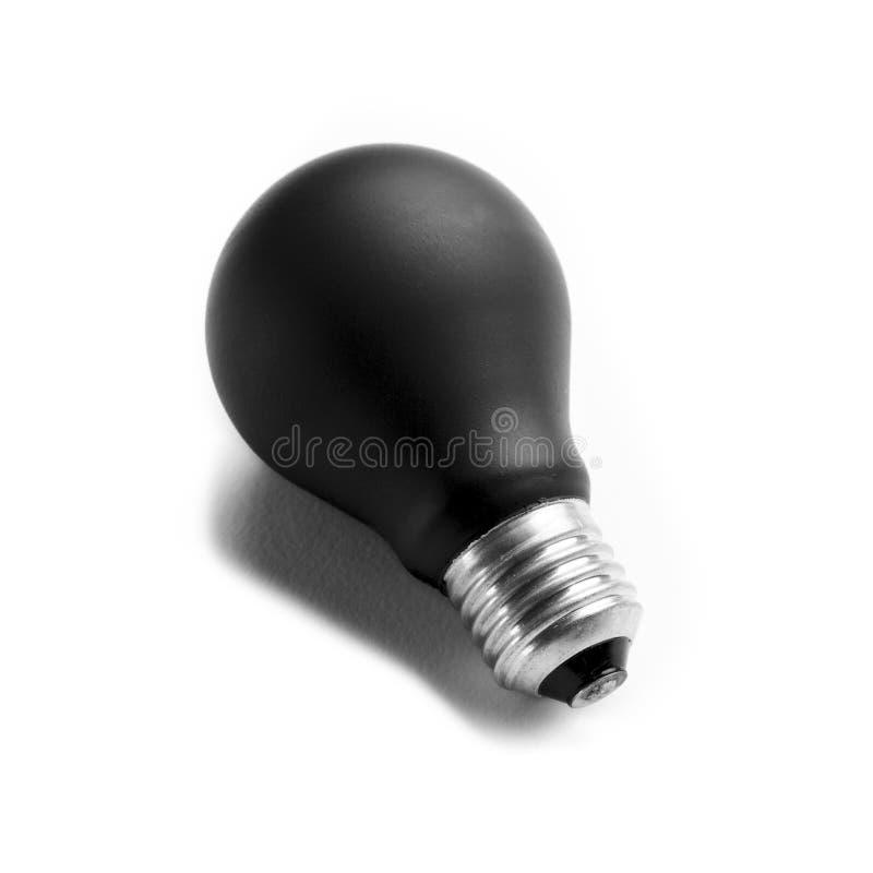 Zwarte lightbulb royalty-vrije stock foto's