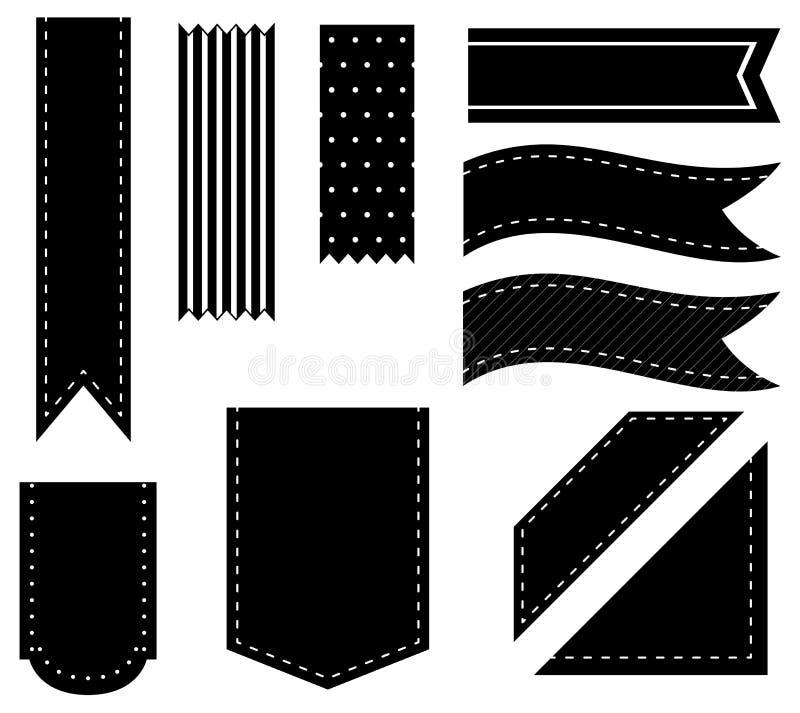 Zwarte linten royalty-vrije illustratie