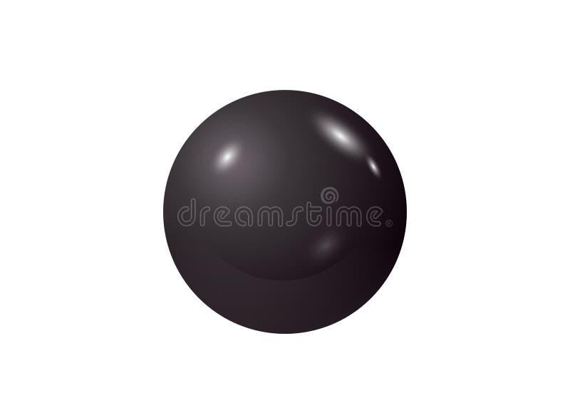 Zwarte loterij, biljart, poolbal snooker Witte achtergrond Het ontwerp van de illustratie stock foto's