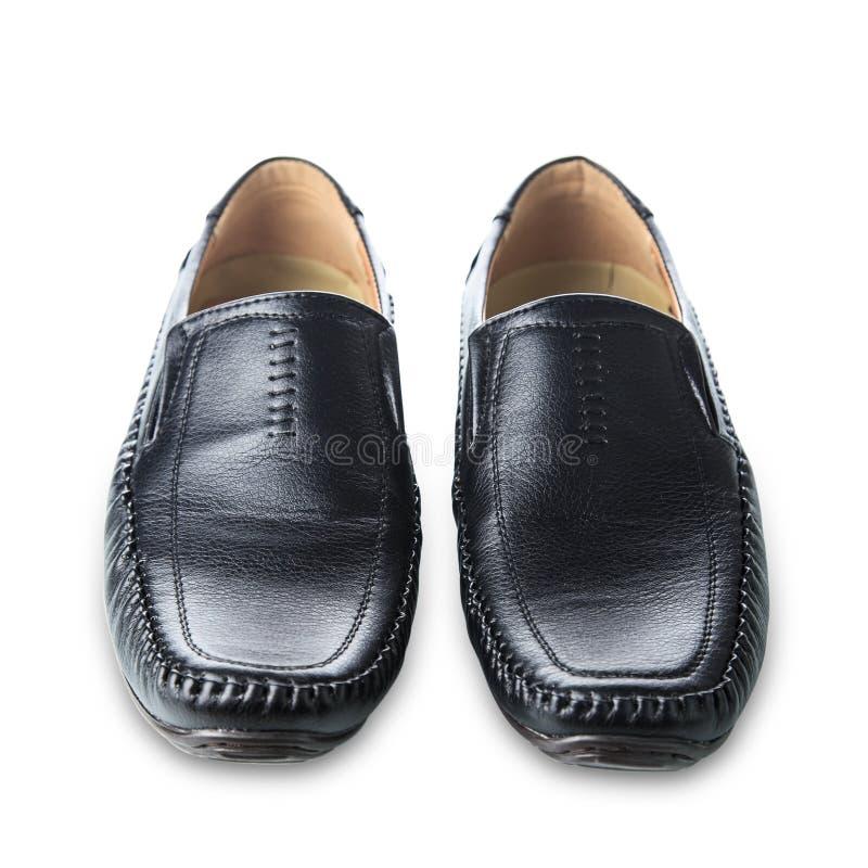 Zwarte man schoenen royalty-vrije stock foto