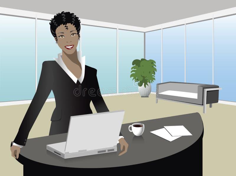 Zwarte manager stock illustratie