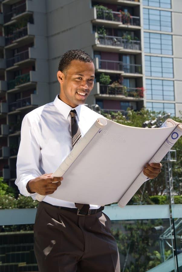 Zwarte Mannelijke Architect stock fotografie