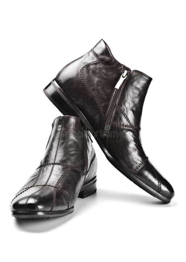 Zwarte mannelijke schoenen royalty-vrije stock foto