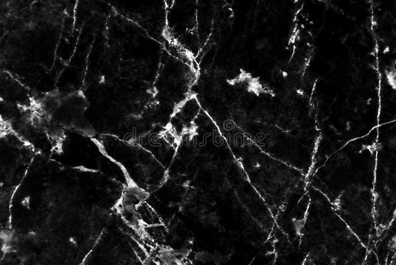 Zwarte marmer gevormde textuurachtergrond, Gedetailleerd echt marmer van aard stock afbeelding
