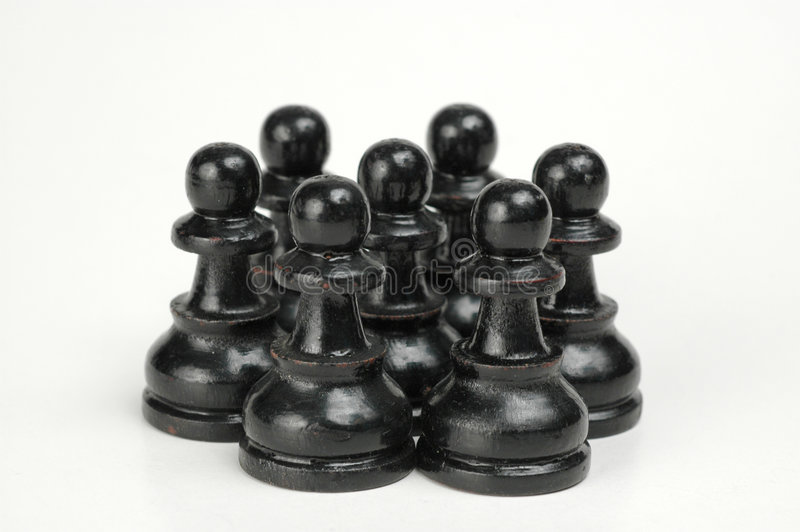 Zwarte Menigte II Royalty-vrije Stock Fotografie