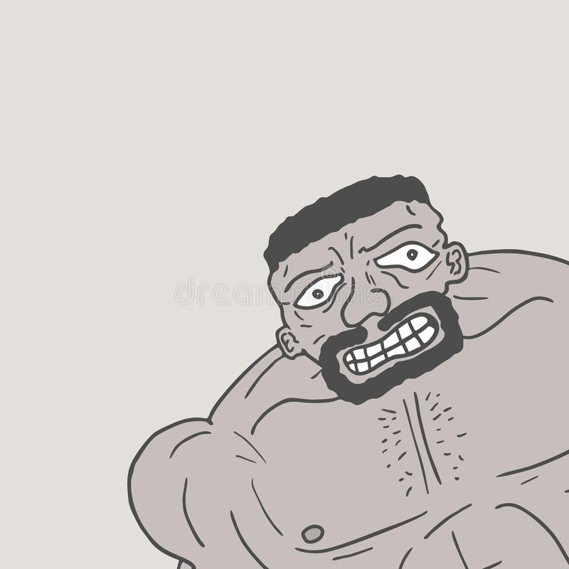 Zwarte mens vector illustratie