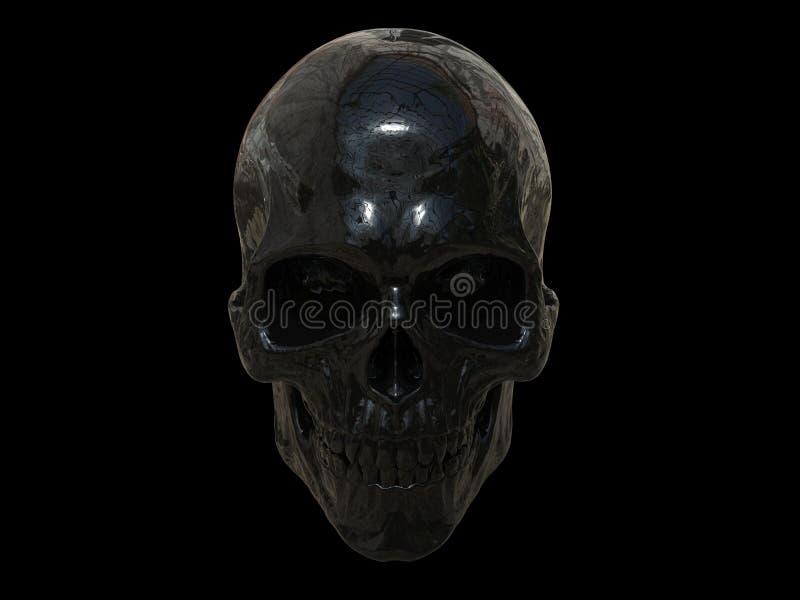 Zwarte MetaalSchedel vector illustratie
