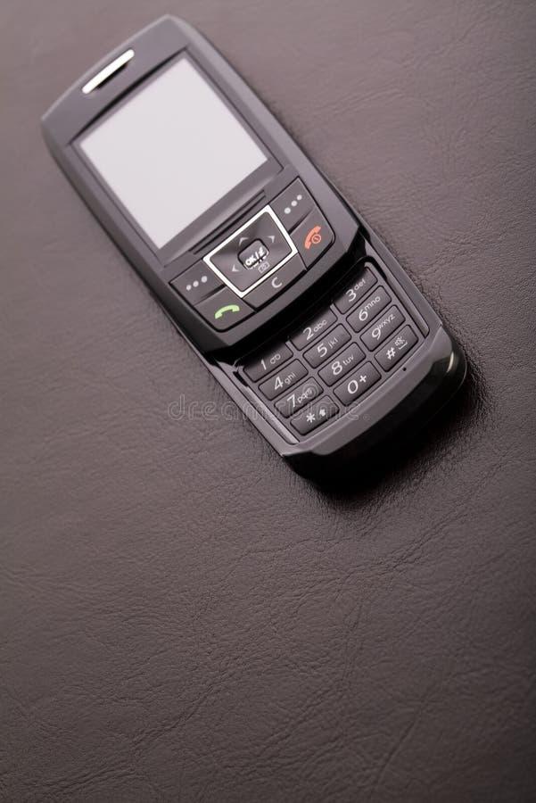 Zwarte mobiele telefoon royalty-vrije stock fotografie