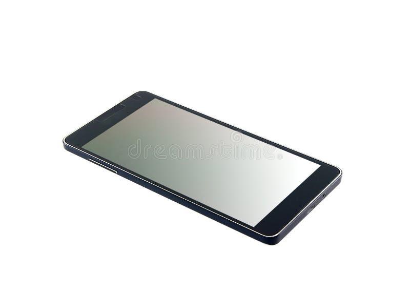 Zwarte moderne geïsoleerde smartphone stock afbeeldingen