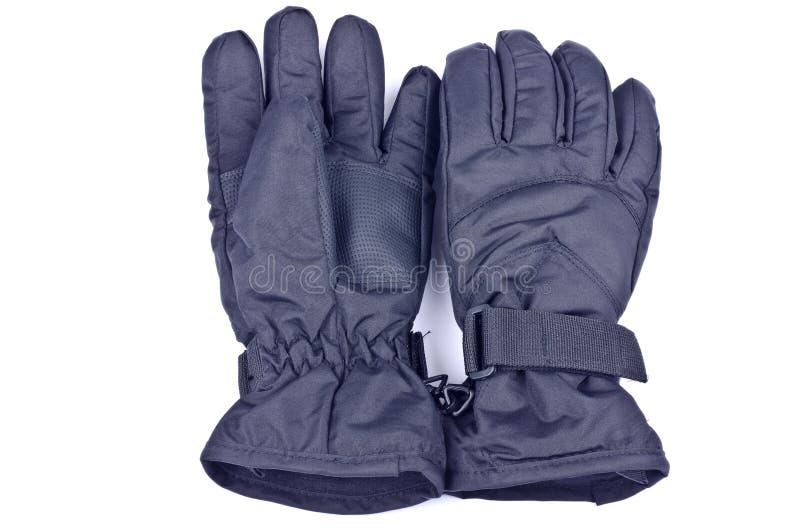 Zwarte Nylon Handschoenen stock fotografie