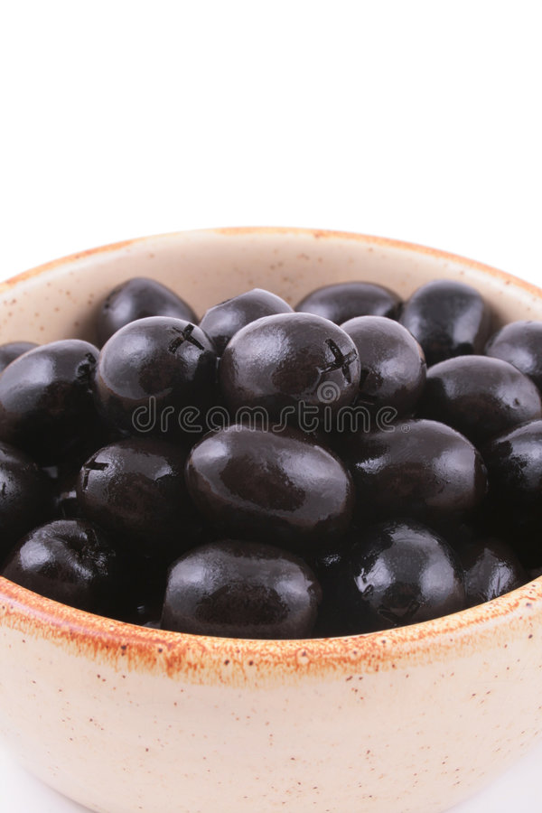 Zwarte olijven stock foto's
