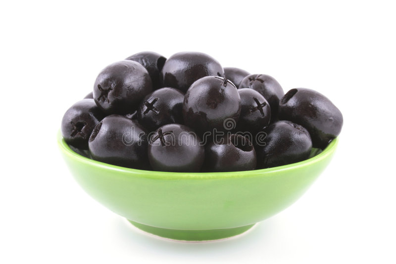 Zwarte olijven stock foto