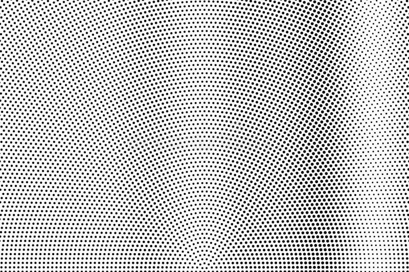 Zwarte op witte frequente halftone textuur Gestippelde vectorachtergrond Verticale dotworkgradiënt stock illustratie