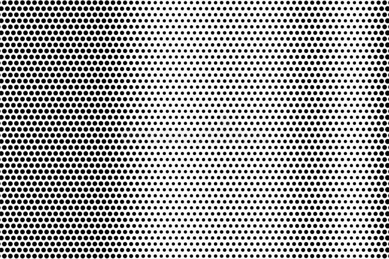 Zwarte op witte grunge halftone textuur Gestippelde vectorachtergrond Verticale dotworkgradiënt royalty-vrije illustratie
