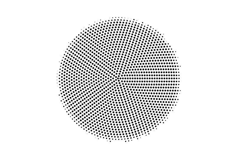 Zwarte op witte halftone textuur Gecentreerde dotwork gradiënt Halftone vectorachtergrond Zwart-wit halftone bekleding stock illustratie