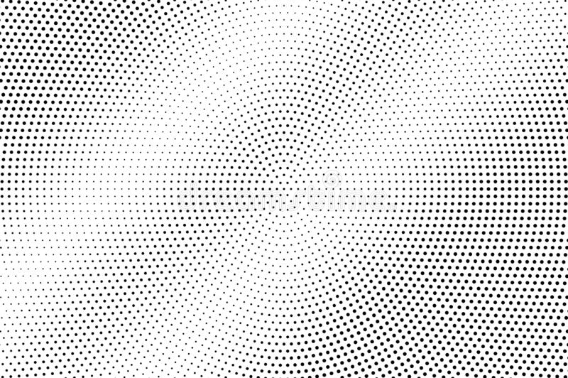 Zwarte op witte langzaam verdwenen halftone textuur Bleke dotworkgradiënt Halftone vectorachtergrond Zwart-wit halftone bekleding stock illustratie