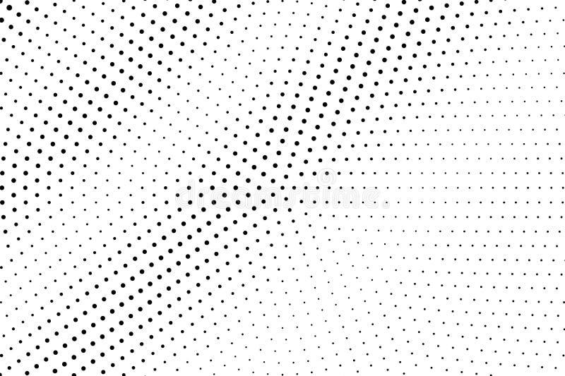 Zwarte op witte langzaam verdwenen halftone textuur Dunne dotworkgradiënt Halftone vectorachtergrond Zwart-wit halftone bekleding stock illustratie