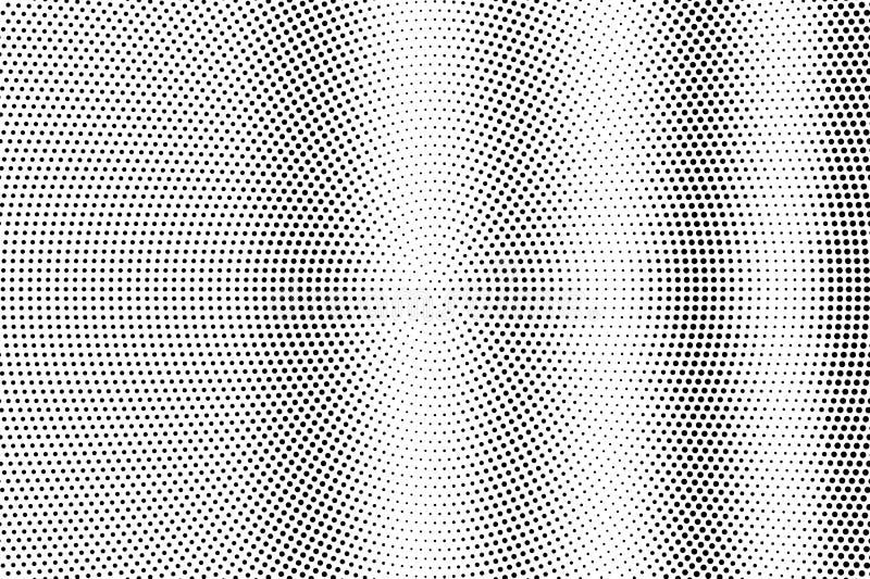 Zwarte op witte langzaam verdwenen halftone textuur Gestippelde vectorachtergrond Verticale dotworkgradiënt Zwart-wit halftone be stock illustratie