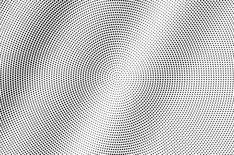 Zwarte op witte micro- halftone textuur Gestippelde vectorachtergrond Diagonale dotworkgradiënt Zwart-wit halftone bekleding royalty-vrije illustratie