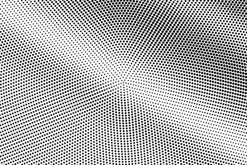 Zwarte op witte vlotte halftone textuur Gestippelde vectorachtergrond Diagonale dotworkgradiënt royalty-vrije illustratie