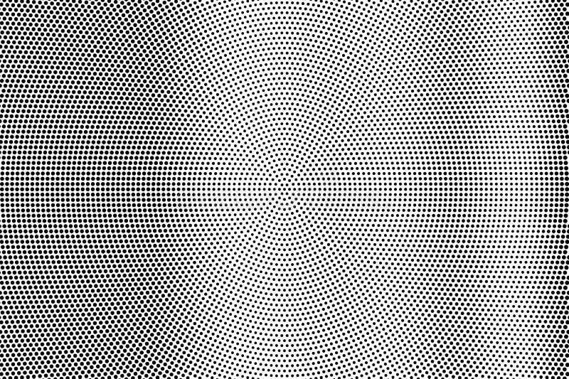 Zwarte op witte vlotte halftone textuur Gestippelde vectorachtergrond Verticale dotworkgradiënt vector illustratie