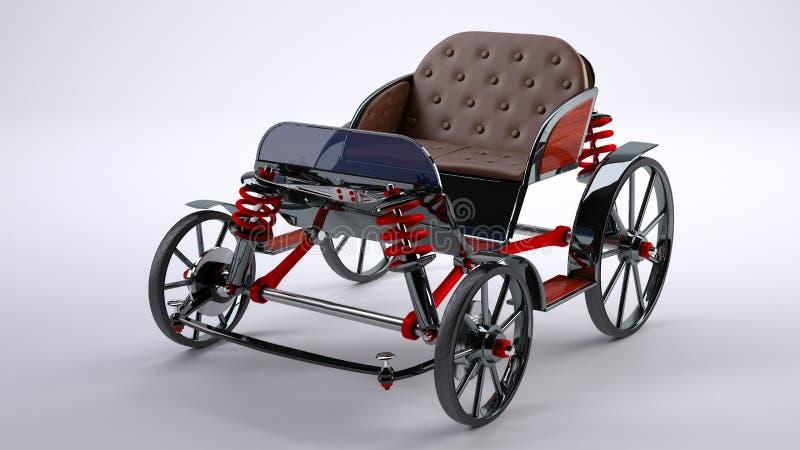 Zwarte paardkar royalty-vrije stock foto's