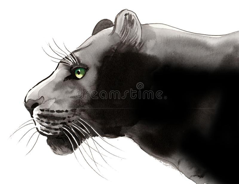 Zwarte Panter royalty-vrije illustratie