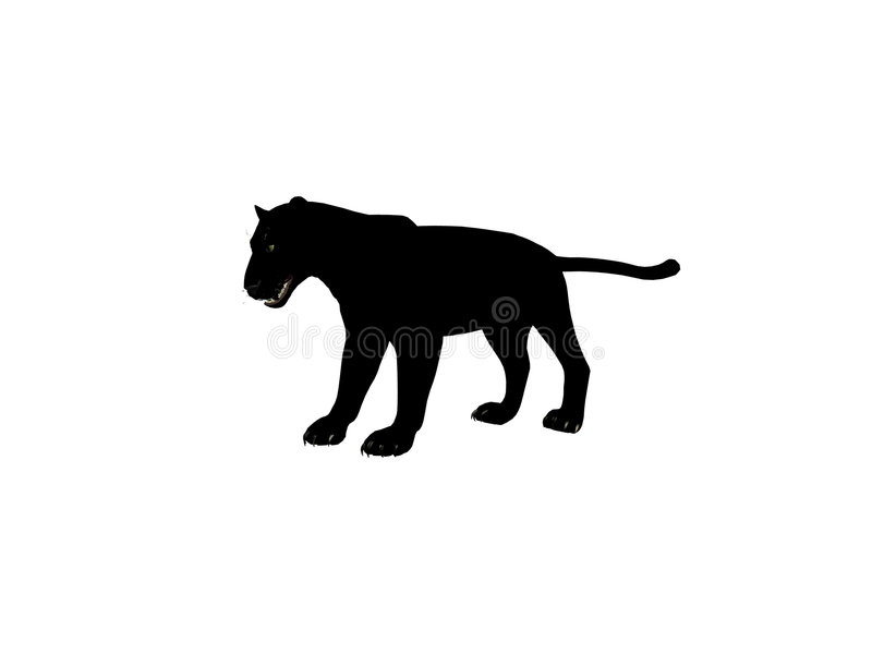 Zwarte Panter Royalty-vrije Stock Afbeelding