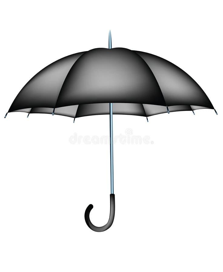 Zwarte paraplu royalty-vrije illustratie