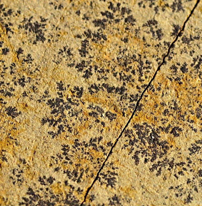 Zwarte patronen op het zandsteen royalty-vrije stock afbeelding