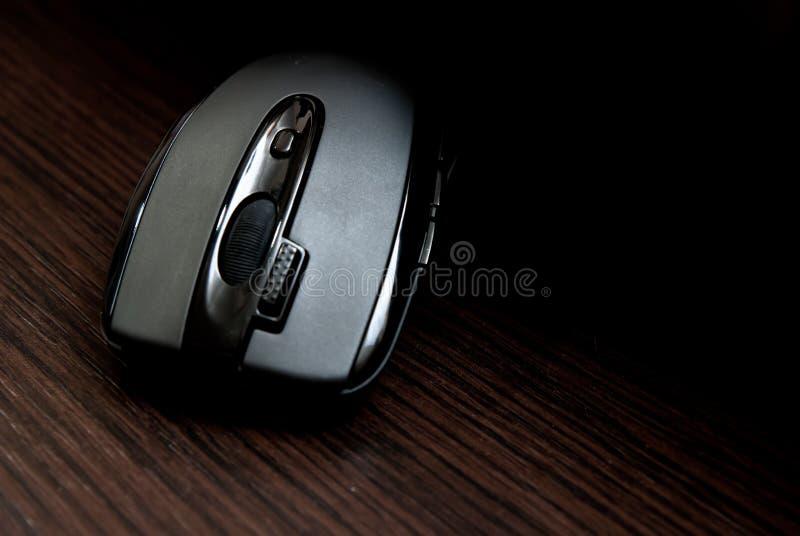 Zwarte PCmuis stock afbeelding
