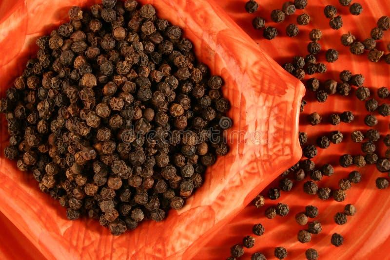 Zwarte peper royalty-vrije stock fotografie