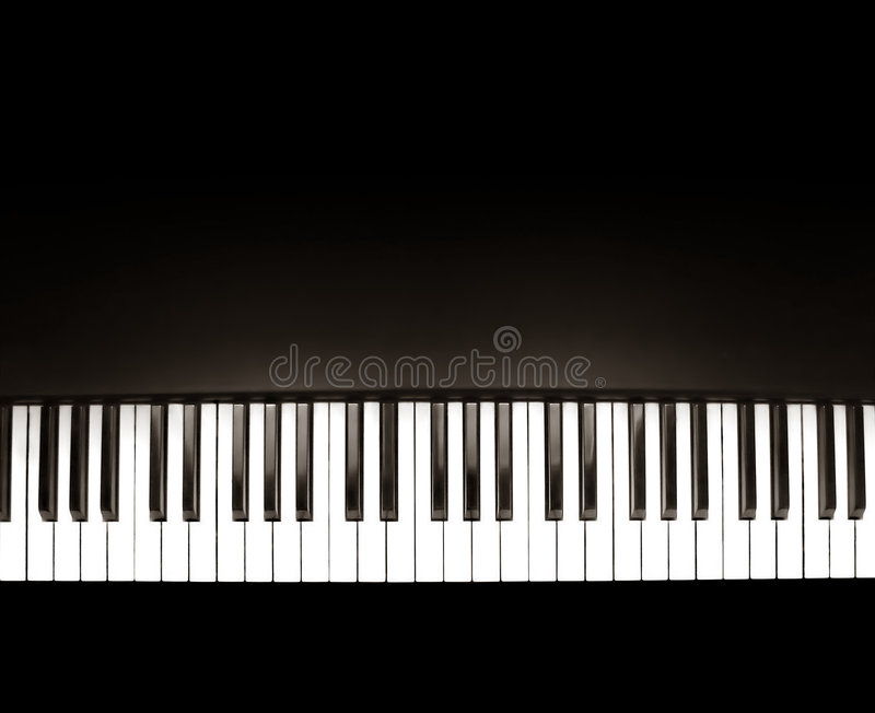 Zwarte piano royalty-vrije stock afbeelding