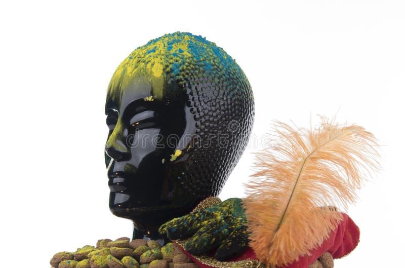 Zwarte Piet倒台  免版税库存图片