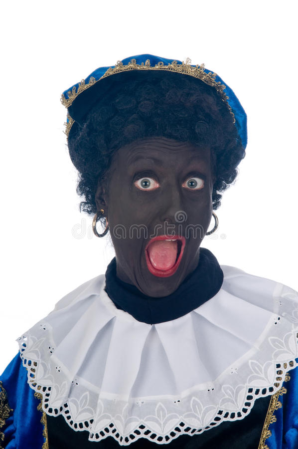 Zwarte Piet. Is a Dutch tradition during Sinterklaas, which is celebrated in December the fifth stock images