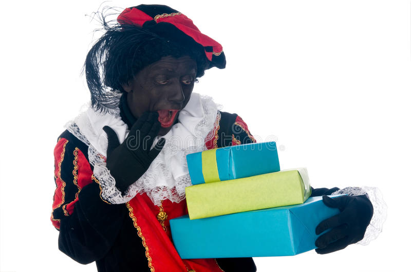 Zwarte Piet. Is a Dutch tradition during Sinterklaas, which is celebrated in December the fifth royalty free stock image