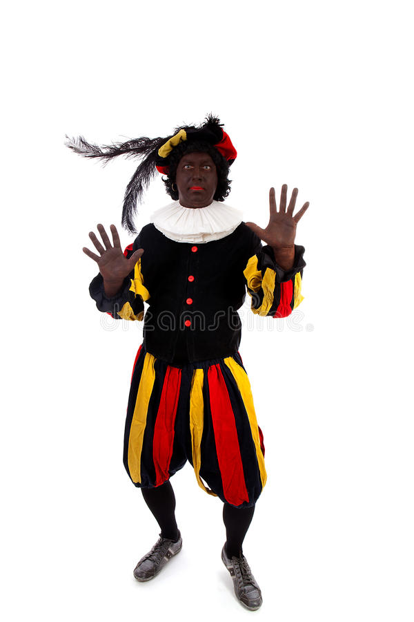 Zwarte Piet ( Black Pete) Typical Dutch Character Stock Images