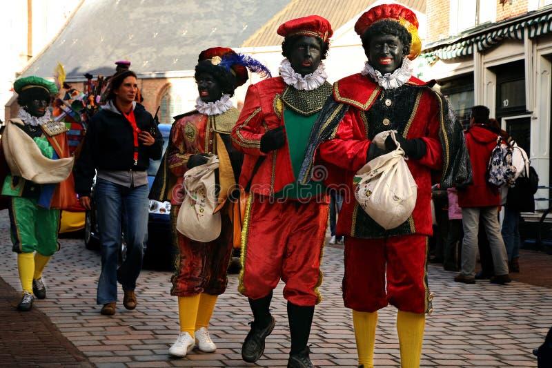 Zwarte Piet (Peter negro) foto de archivo libre de regalías