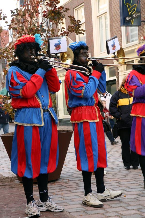 Zwarte Piet (Zwarte Peter) royalty-vrije stock afbeeldingen