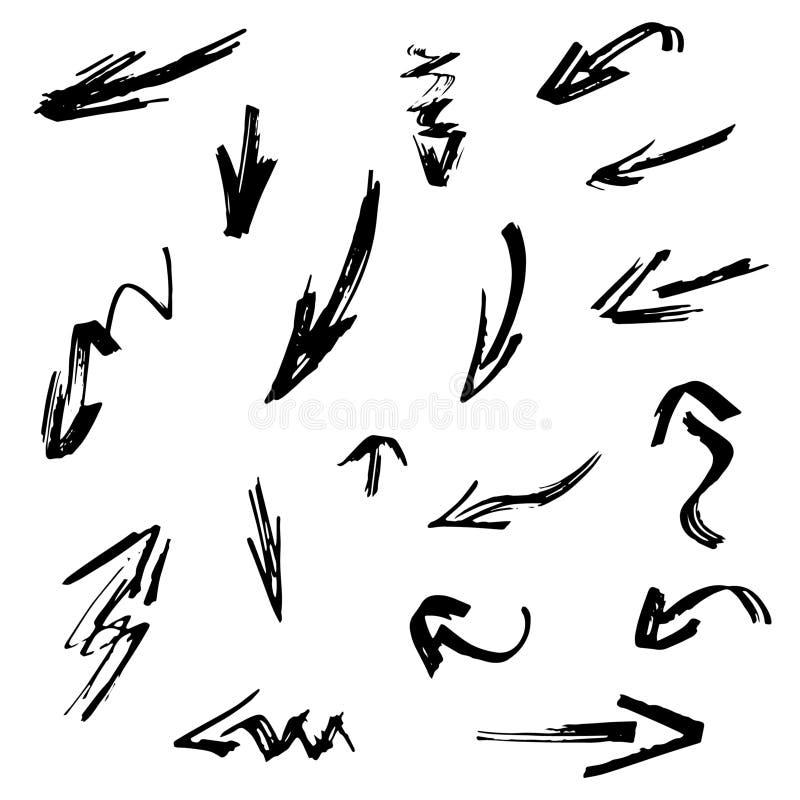 Zwarte pijlen royalty-vrije illustratie