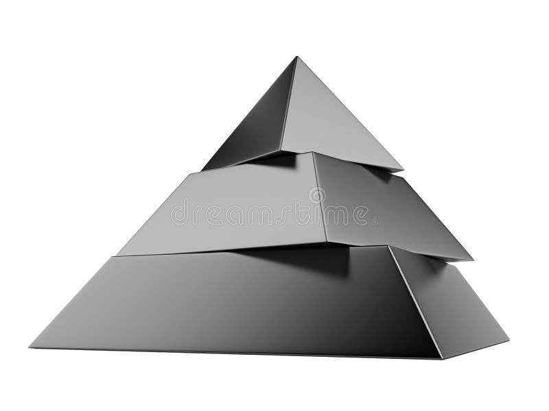 Zwarte piramide royalty-vrije stock foto's