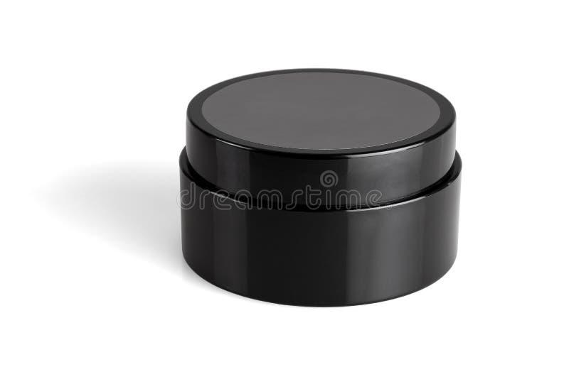 Zwarte plastic container stock afbeelding