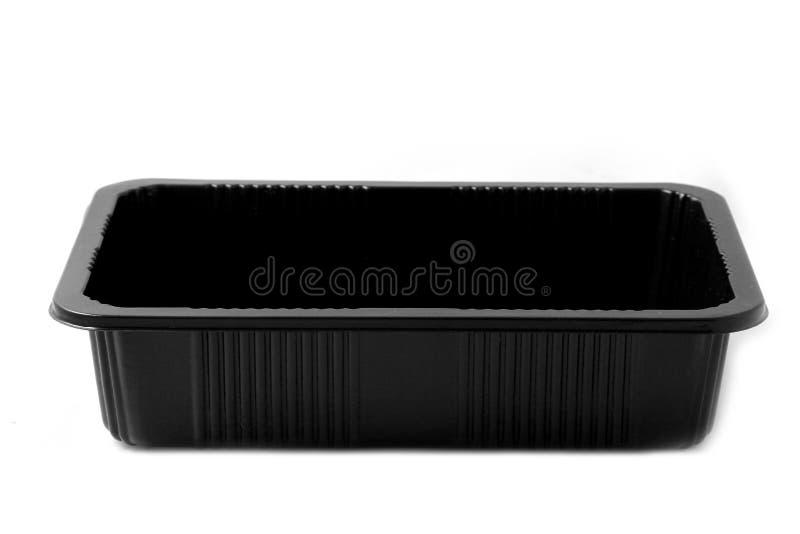 Zwarte plastic container royalty-vrije stock fotografie