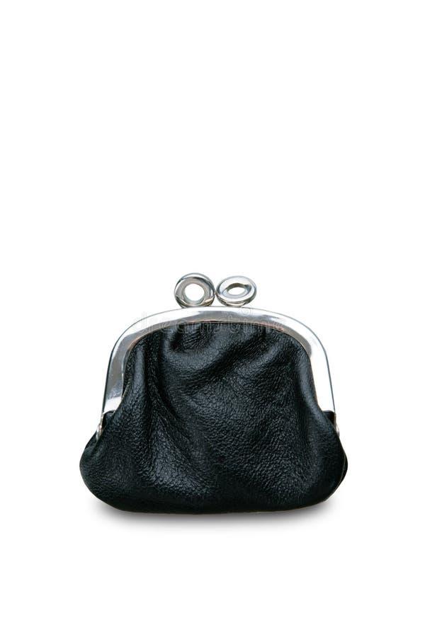 Zwarte portefeuille stock fotografie