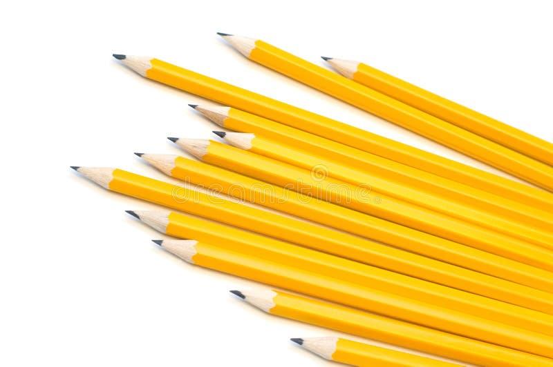 Zwarte potloden royalty-vrije stock fotografie