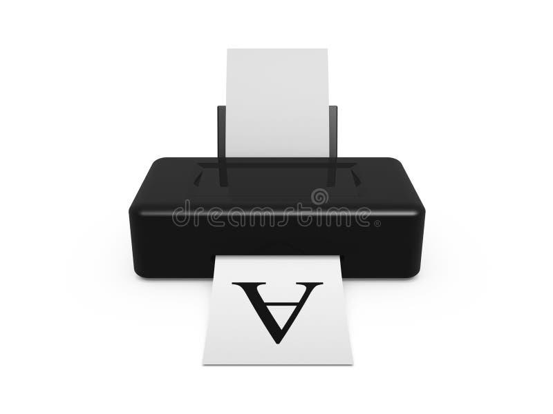 Zwarte printer royalty-vrije stock foto's